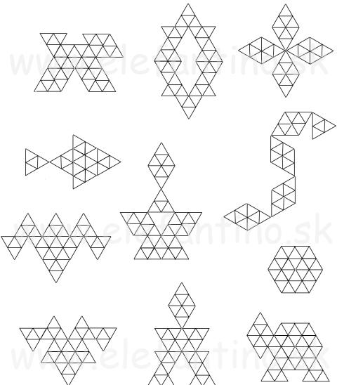 indianska mozaika - predlohy