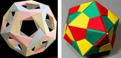 origami platonske telesa